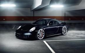 Picture Porsche, Carrera, Automotive, Black Car, Alpha, Porsche 991