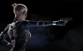 Picture gun, glasses, Mortal Kombat X, Cassie Cage, Mortal Kombat 10, Cassie Cage