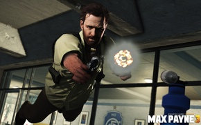 Picture flight, guns, shooting, game, Max Payne 3, Bullet Time, Max Payne