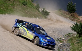 Picture dust, skid, subaru, gravel, new Zealand, rally, rally, wrx, impreza, wrc, sti, 2007, new zealand, …