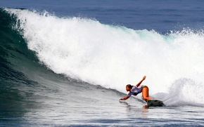 Picture girl, wave, surfing, Board, surfing