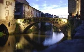Picture Bridge, France, River, Saint Jean Pied de Port
