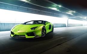 Picture aventador-v, lp-740, aventador, aventador, tuning, supercar, lamborghini, car, green, tuning, vorsteiner