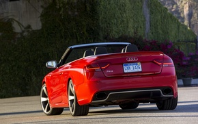 Picture red, Audi, Audi, red, convertible, RS5, cabriolet