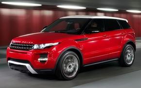 Picture machine, auto, red, land rover, range rover, crossover, Ewok, evoque, range, lend, Rover