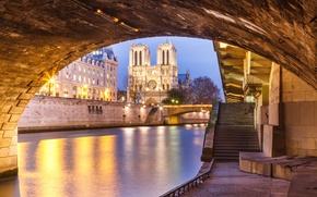 Picture bridge, river, France, Paris, Hay, Cathedral, Notre Dame de Paris
