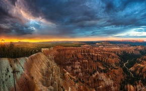 Picture the evening, panorama, Utah, USA, state, national Park Bryce Canyon