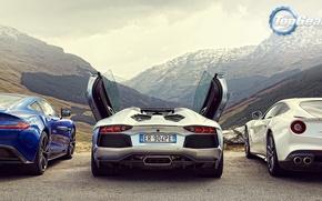 Picture Roadster, Mountains, Lamborghini, Ass, Aston, Martin, Ferrari, Door, Lights, V12, LP700-4, Aventador, Supercars, Berlinetta, F12, …