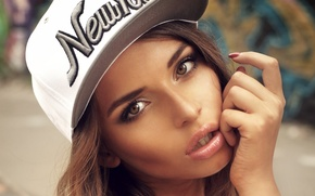 Picture look, face, model, makeup, cap