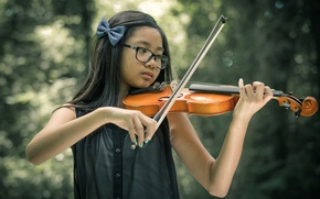 Picture music, violin, girl