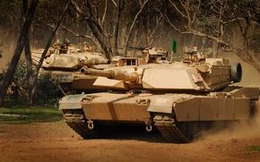 Picture Australia, tank, American, Abrams, Abrams