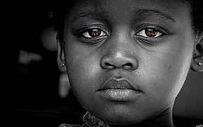 Picture black, sad, eyes, face, baby