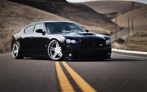 Picture car, black, Wallpaper, tuning, car, black, Dodge, dodge, tuning, charger, srt8, nation, the charger, срт8, …