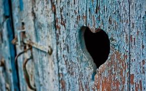 Wallpaper macro, the door, heart