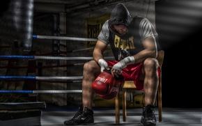 Wallpaper Fight Club, training, the ring, sport