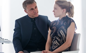 Picture frame, Christoph Waltz, Lea Seydoux, Lea Seydoux, Christoph Waltz, 007: RANGE, SPECTRE, Madeleine Swann, Blofeld