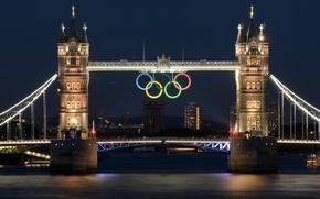 Wallpaper bridge, river, London, Olympics, Thames, 2012, Tower Bridge, London