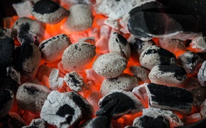 Picture flame, the fire, heat, BBQ, coal, coal