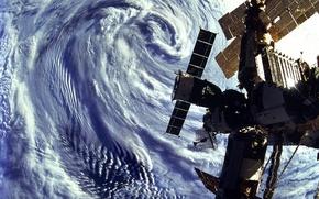 Wallpaper the sky, ISS, satellite