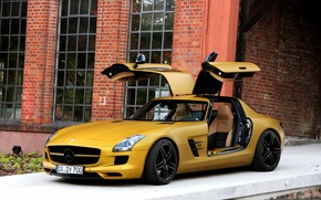 Picture gold, sls, amg