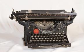 Picture vintage, retro, machine, typewriter, old, retro, printed, old, vintage, Underwood