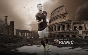 Picture wallpaper, sport, football, player, AS Roma, Miralem Pjanic