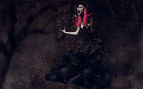Picture forest, witch, witchcraft, demons, Creek