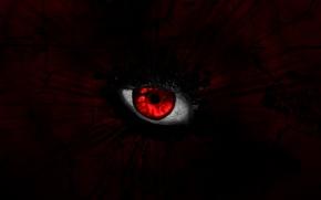 Picture look, red, eyes, blood, dark, evil