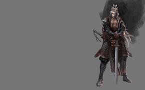 Picture fantasy, weapons, sword, warrior, art