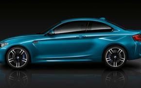 Picture BMW, Blue, Coupe, Side, View, (2015)
