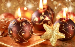 Picture fire, holiday, new year, candles, candle, happy new year, Christmas toys
