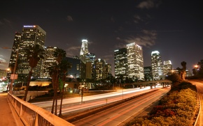Wallpaper lights, road, building, night