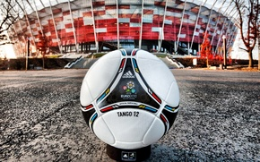 Picture The ball, Leather, Euro 2012, Stadium.