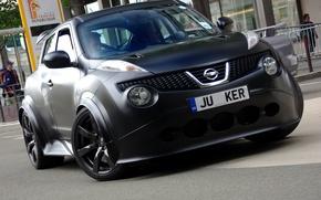 Picture black, Matt, black, front, street, mat, Beetle-R, Nissan Juke-R