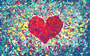 Wallpaper background., abstraction, love, heart