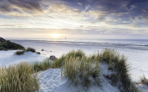 Picture sea, light, morning, dunes