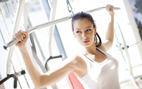 Wallpaper woman, gym, physical activity, workout