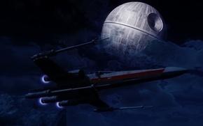 Picture space, Star Wars, Star Wars, spaceship, the death star