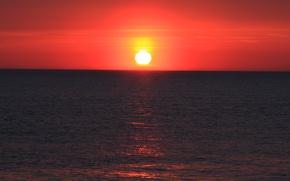 Picture sea, wave, the sun, sunset, breeze