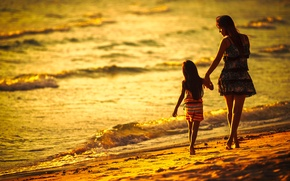 Picture beach, woman, surf, girl