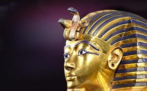 Picture mask, Pharaoh, Tutankhamun, Egypt, Ancient, Tutankhamun
