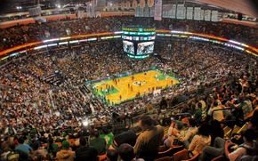 Picture people, basketball, Boston Celtics and the Garden