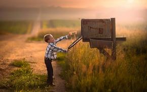 Picture letter, boy, message