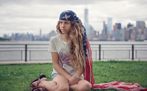 Picture the city, New York, bokeh, Susana of the Key, american girl
