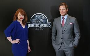 Picture photo, actors, Chris Pratt, Jurassic world, Bryce Dallas Howard, Jurassic World, Chris Pratt, Bryce Dallas …