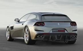 Picture ferrari, Ferrari, back, gtc, lusso