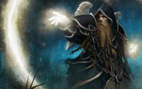 Picture fantasy, magic, MAG, Art, dwarf