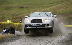 Picture squirt, jump, Road, Dirt, Top Gear, Rally, Bentley Continental Gt Speed