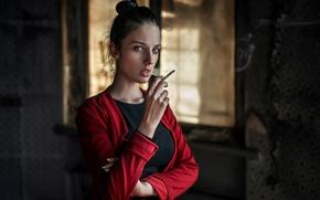 Picture look, cigarette, Russia, George Chernyadev, Alla, Alla Berger