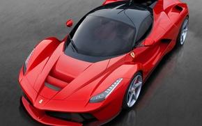 Picture machine, lights, Ferrari, red, view, the front, 2013, LaFerrari